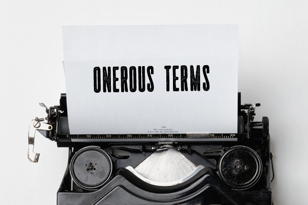 Onerous Terms Not Necessarily Unconscionable