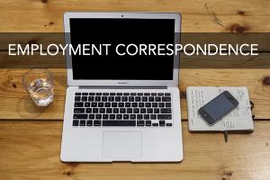 Employment Correspondence