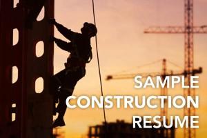 construction resume