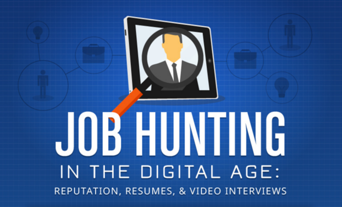 Job hunt digital age infographic 700px