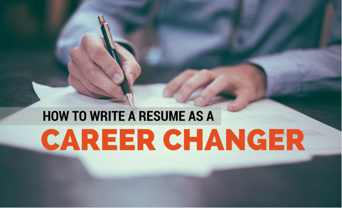 how to write your resume for a career change